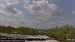 view from University Place Apartments - South Weather on 2019-08-06