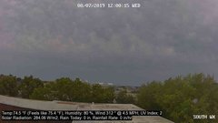 view from University Place Apartments - South Weather on 2019-08-07