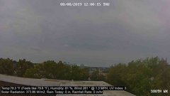 view from University Place Apartments - South Weather on 2019-08-08