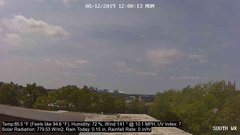 view from University Place Apartments - South Weather on 2019-08-12