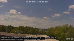view from University Place Apartments - South Weather on 2019-08-13