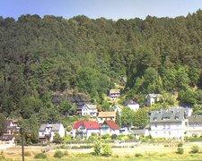 view from Webcam in Bad Schandau, Krippen & Postelwitz on 2018-08-07