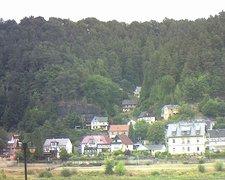 view from Webcam in Bad Schandau, Krippen & Postelwitz on 2018-08-08