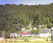 view from Webcam in Bad Schandau, Krippen & Postelwitz on 2018-08-13