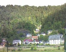 view from Webcam in Bad Schandau, Krippen & Postelwitz on 2018-08-15
