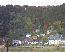 view from Webcam in Bad Schandau, Krippen & Postelwitz on 2018-10-15