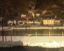 view from Webcam in Bad Schandau, Krippen & Postelwitz on 2019-02-08