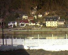 view from Webcam in Bad Schandau, Krippen & Postelwitz on 2019-02-09