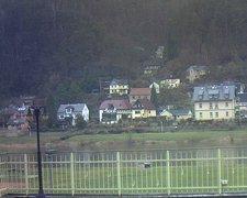 view from Webcam in Bad Schandau, Krippen & Postelwitz on 2019-02-13