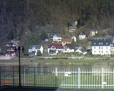 view from Webcam in Bad Schandau, Krippen & Postelwitz on 2019-02-17