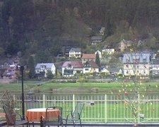 view from Webcam in Bad Schandau, Krippen & Postelwitz on 2019-04-12