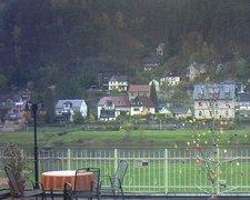 view from Webcam in Bad Schandau, Krippen & Postelwitz on 2019-04-14