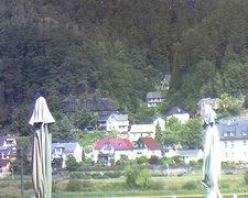 view from Webcam in Bad Schandau, Krippen & Postelwitz on 2019-08-13