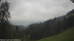 view from VREME ŽIRI-cam-3-VZHOD-Mrzli vrh on 2019-04-13