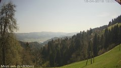 view from VREME ŽIRI-cam-3-VZHOD-Mrzli vrh on 2019-04-16
