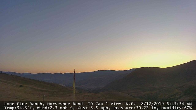 time-lapse frame, Horseshoe Bend, Idaho CAM1 webcam