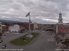 view from 13 East Market Street - Lewistown PA (west) on 2019-01-16