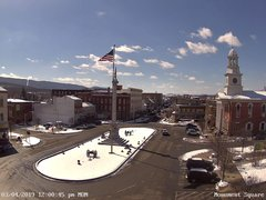 view from 13 East Market Street - Lewistown PA (west) on 2019-03-04