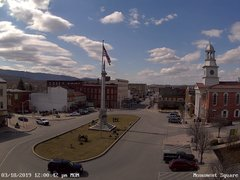view from 13 East Market Street - Lewistown PA (west) on 2019-03-18