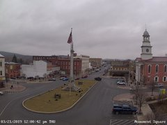 view from 13 East Market Street - Lewistown PA (west) on 2019-03-21