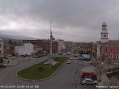 view from 13 East Market Street - Lewistown PA (west) on 2019-04-12