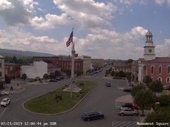 view from 13 East Market Street - Lewistown PA (west) on 2019-07-21