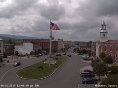 view from 13 East Market Street - Lewistown PA (west) on 2019-08-15