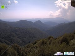 view from Lago Maggiore Zipline on 2018-08-08