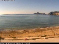 view from Agios Georgios NW Corfu Greece on 2020-01-02