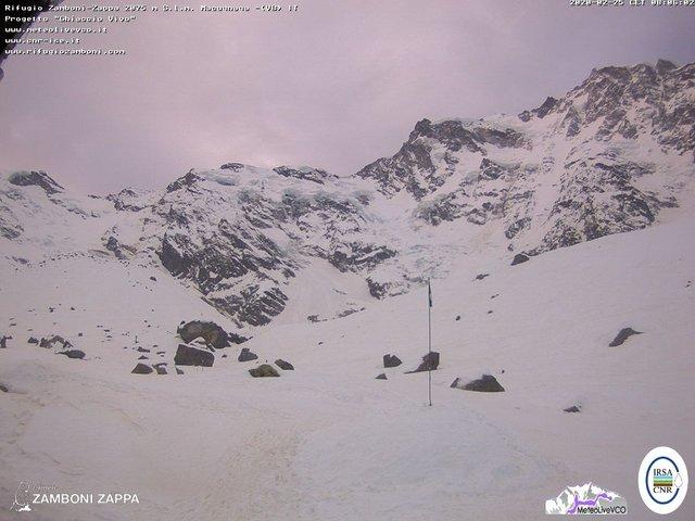 time-lapse frame, Rifugio Zamboni webcam