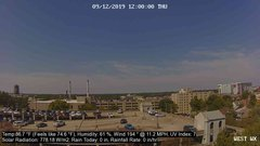 view from University Place Apartments - West Weather on 2019-09-12