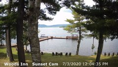 view from 4th Lake, Inlet, NY on 2020-07-03