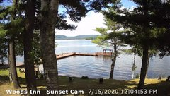 view from 4th Lake, Inlet, NY on 2020-07-15
