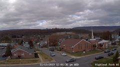 view from Highland Park Hose Co. #1 on 2019-11-13
