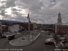 view from 13 East Market Street - Lewistown PA (west) on 2020-01-21