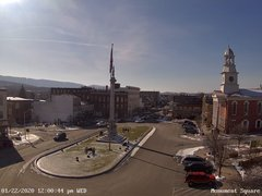 view from 13 East Market Street - Lewistown PA (west) on 2020-01-22