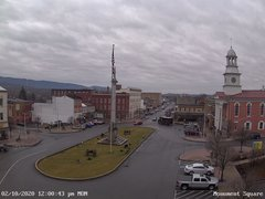 view from 13 East Market Street - Lewistown PA (west) on 2020-02-10