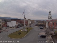 view from 13 East Market Street - Lewistown PA (west) on 2020-02-12