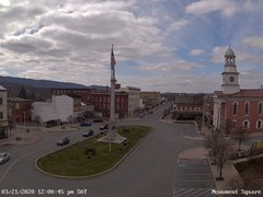 view from 13 East Market Street - Lewistown PA (west) on 2020-03-21