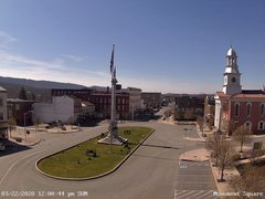 view from 13 East Market Street - Lewistown PA (west) on 2020-03-22