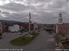 view from 13 East Market Street - Lewistown PA (west) on 2020-03-24