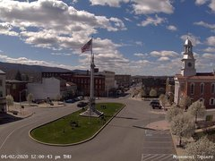 view from 13 East Market Street - Lewistown PA (west) on 2020-04-02