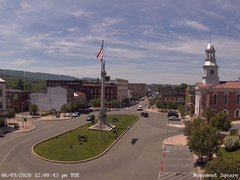view from 13 East Market Street - Lewistown PA (west) on 2020-06-09