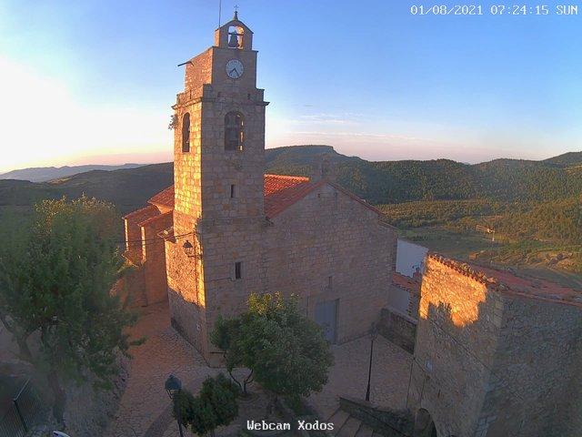 time-lapse frame, Xodos - Ajuntament (Plaça de l'Esglèsia) webcam