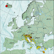 view from Erdbeben Europa on 2021-03-01
