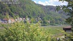 view from Webcam in Bad Schandau Sächsische Schweiz on 2021-05-31