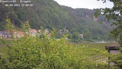 view from Webcam in Bad Schandau Sächsische Schweiz on 2021-06-04
