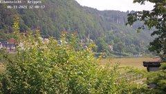 view from Webcam in Bad Schandau Sächsische Schweiz on 2021-06-11