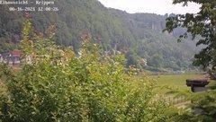 view from Webcam in Bad Schandau Sächsische Schweiz on 2021-06-16