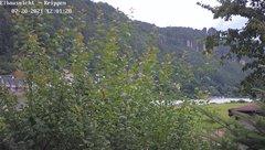 view from Webcam in Bad Schandau Sächsische Schweiz on 2021-07-20